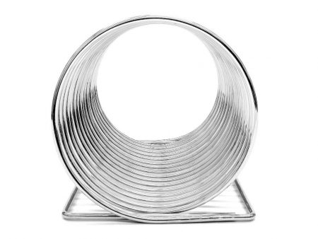 record-holder-chrome-metal-wire-front
