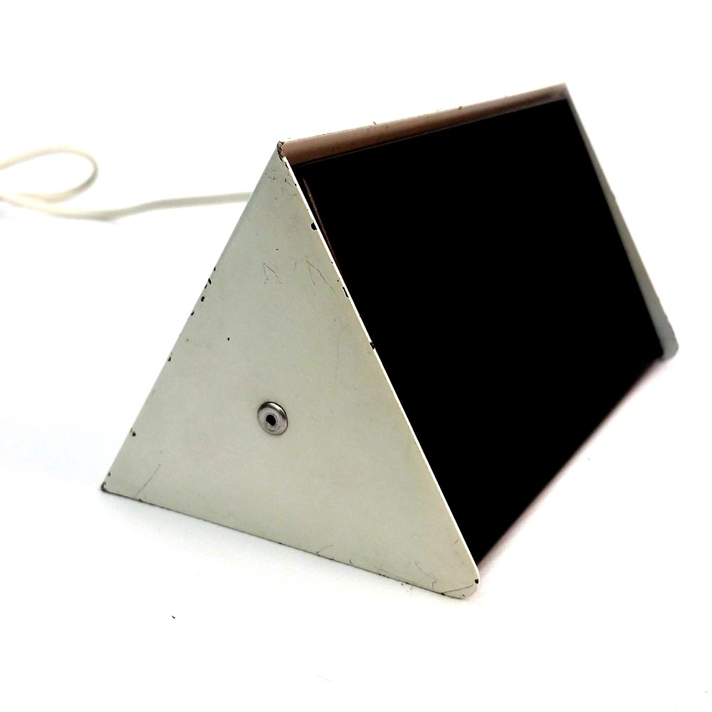 Black and white metal wall lamp