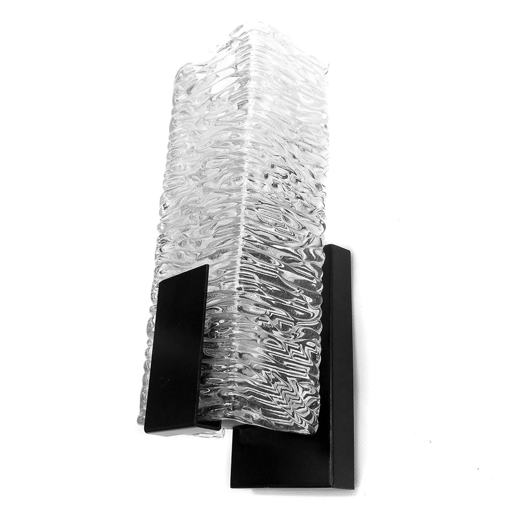 textured glass wall lamp